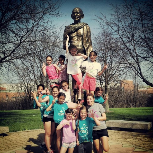 Girls on the Run - Evanston raised funds for the Peace Marathon and ran all 26.2 miles.  Led by Coach Melissa Bullock.